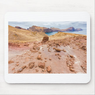 Moonscape lunar landscape with rocks on island mouse pad