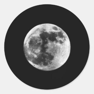 moonscape pegatina redonda