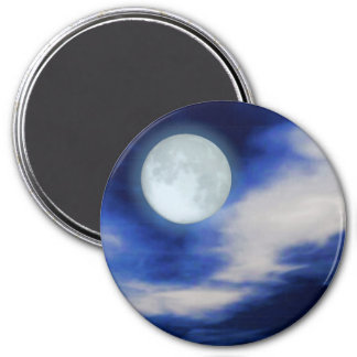 Moonscape print 3 inch round magnet