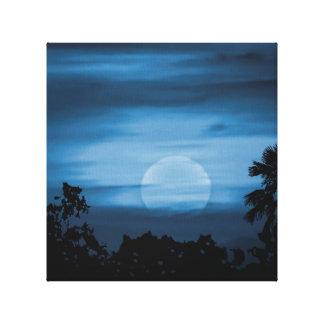 Moonscape Silhouette Ilustration Canvas Print