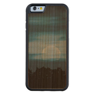 Moonscape Silhouette Ilustration Carved Cherry iPhone 6 Bumper Case