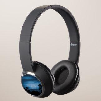 Moonscape Silhouette Ilustration Headphones