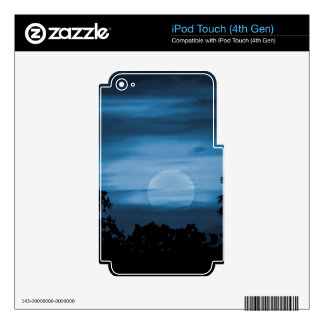 Moonscape Silhouette Ilustration Print Decals For iPod Touch 4G
