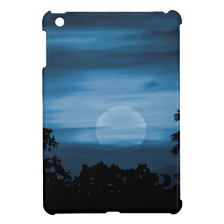 Moonscape Silhouette Ilustration Print iPad Mini Covers