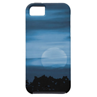 Moonscape Silhouette Ilustration Print iPhone SE/5/5s Case
