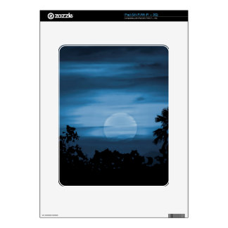Moonscape Silhouette Ilustration Print Skin For iPad