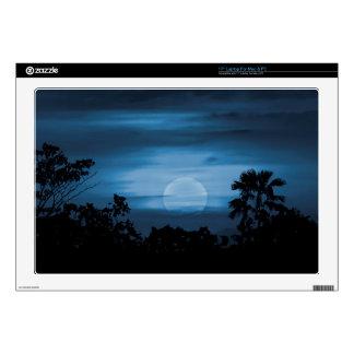 Moonscape Silhouette Ilustration Print Skins For Laptops