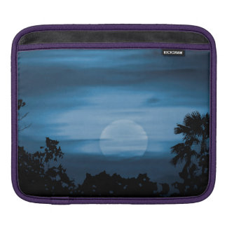 Moonscape Silhouette Ilustration Sleeve For iPads