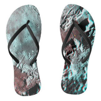 Moonscape Space Photo Anaglyph Hadley Channel Flip Flops