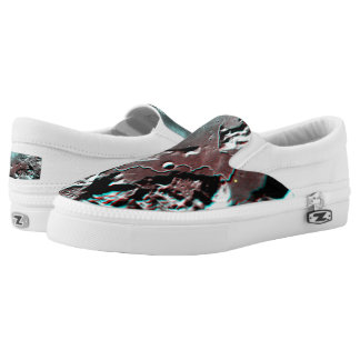 Moonscape Space Photo Anaglyph Hadley Channel Slip-On Sneakers