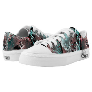 Moonscape Space Photo Anaglyph Low-Top Sneakers