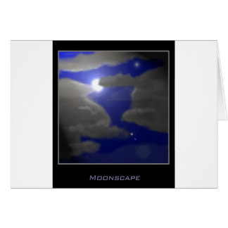 Moonscape Tarjeta De Felicitación