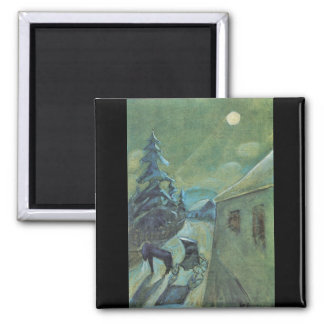 Moonscape with horse by Walter Gramatte Magnets