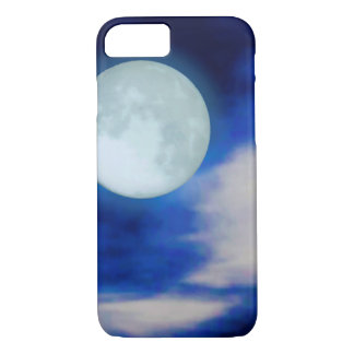 Moonscape with moonlit clouds iPhone 8/7 case