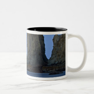 Moonset, Bandon Beach, Oregon. Two-Tone Coffee Mug