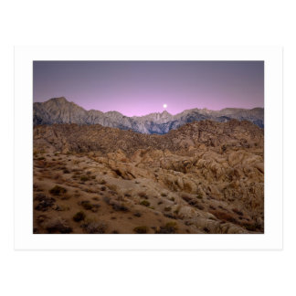"""Moonset en Mt. Whitney "" Tarjetas Postales"