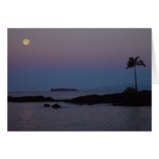Moonset Greeting Card