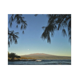 moonset over Mauna Kea Canvas Print