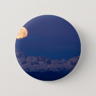 Moonset over the Julian Alps Pinback Button