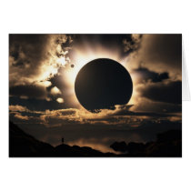 eclipse, sci-fi, alien, space, astronomy, wallpaper, Card with custom graphic design