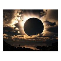 eclipse, sci-fi, alien, space, astronomy, wallpaper, desktop wallpaper, Postcard with custom graphic design