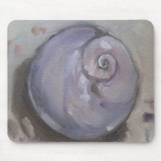 Moonshell beach sea shell beach snail mouse pad