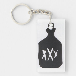 Moonshine Bottle Keychain