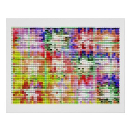 Moonshine Brick Tiles -  Artistic Transformation 1 Posters