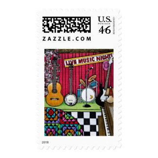 Moonshine Cafe Postage Stamps