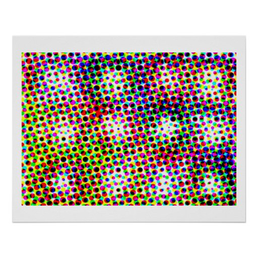 Moonshine Dots  -  Artistic Transformation 1 Poster