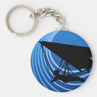 moonshine hang gliding basic round button keychain