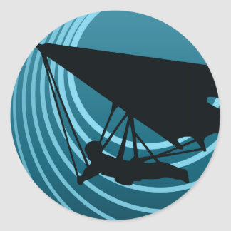 moonshine hang gliding classic round sticker