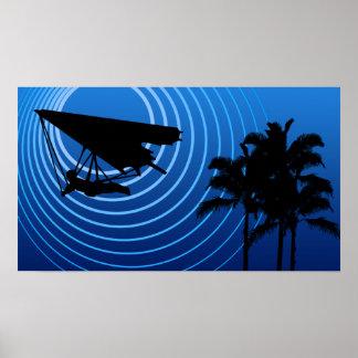 moonshine hang gliding poster