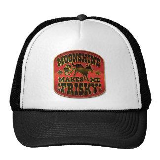 Moonshine Makes Me Frisky! Hats