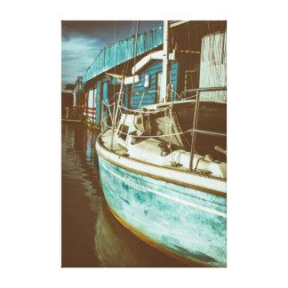 Moonshine Sailing Canvas Print