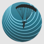 moonshine skydiver round stickers