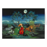 Sweet Moonshine Sonata Chicken Greeting Card