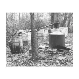 Moonshine Still in the Woods, 1931 Canvas Print