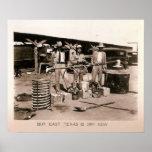 Moonshine Still - Prohibition, Kilgore, TX 1931 Print