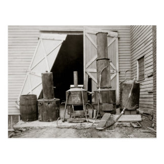 Moonshine Still Seized by Police, 1926 Postcard