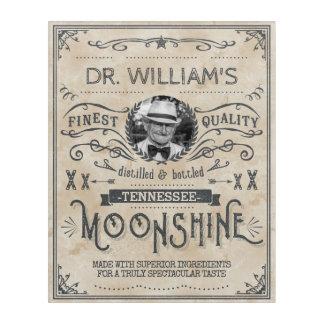 Moonshine Vintage Funny Hillbilly Medicine Custom Acrylic Wall Art