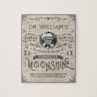Moonshine Vintage Funny Hillbilly Medicine Custom Jigsaw Puzzle