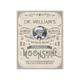 Moonshine Vintage Funny Hillbilly Medicine Custom Metal Photo Print