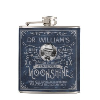 Moonshine Vintage Hillbilly Medicine Custom Blue