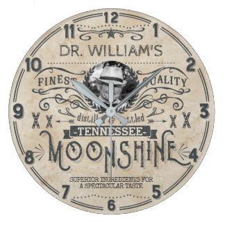 Moonshine Vintage Hillbilly Medicine Custom Funny Large Clock