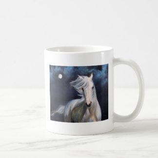 """Moonsilver"" Horse and Full Moon Mug"