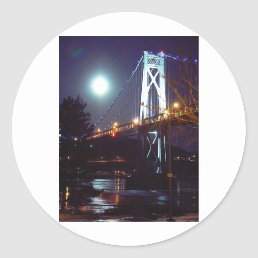 Moonsteel Bridge Classic Round Sticker