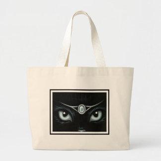 Moonstone Jeweled del gatito Bolsa Tela Grande