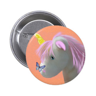 Moonstone the unicorn pinback buttons