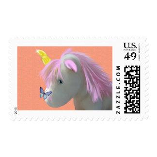 Moonstone the unicorn postage stamps